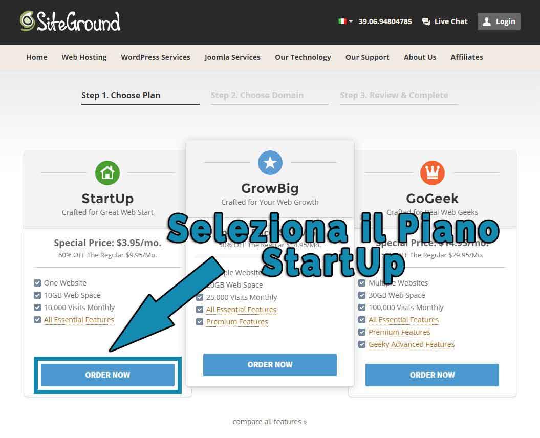 Come creare un blog-Step2
