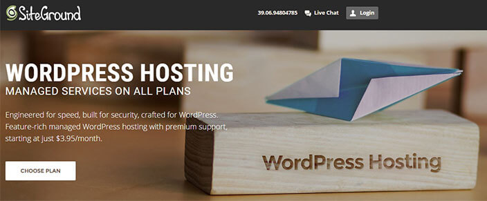 Miglior hosting WordPress-SiteGround
