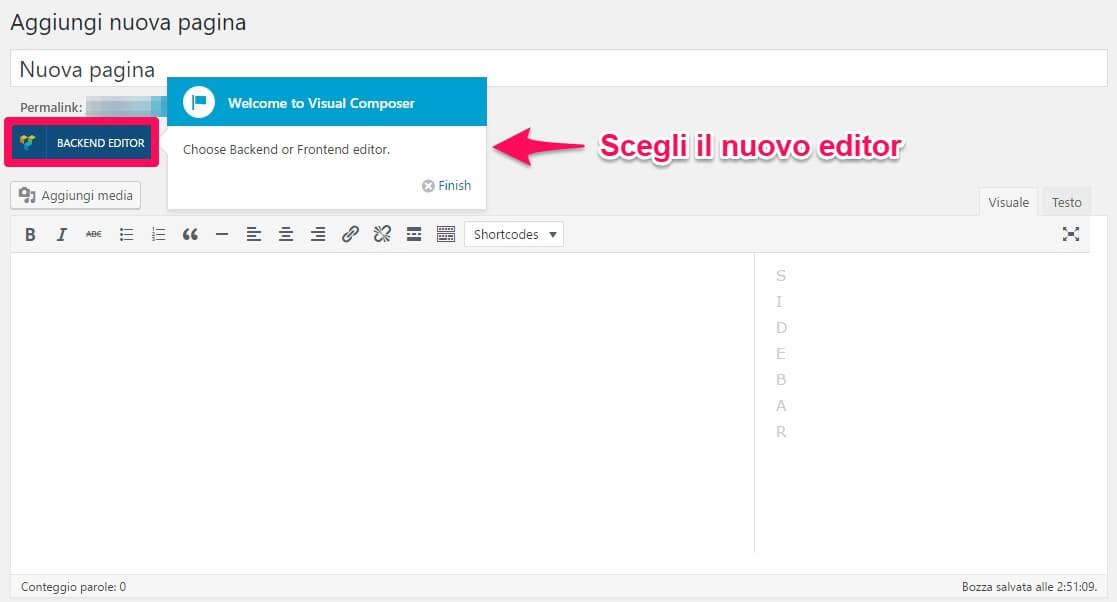 VIsual Composer WordPress-Step1