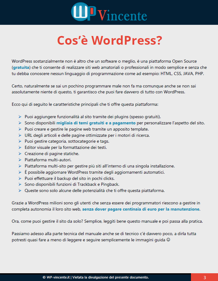 3-Cose WordPress