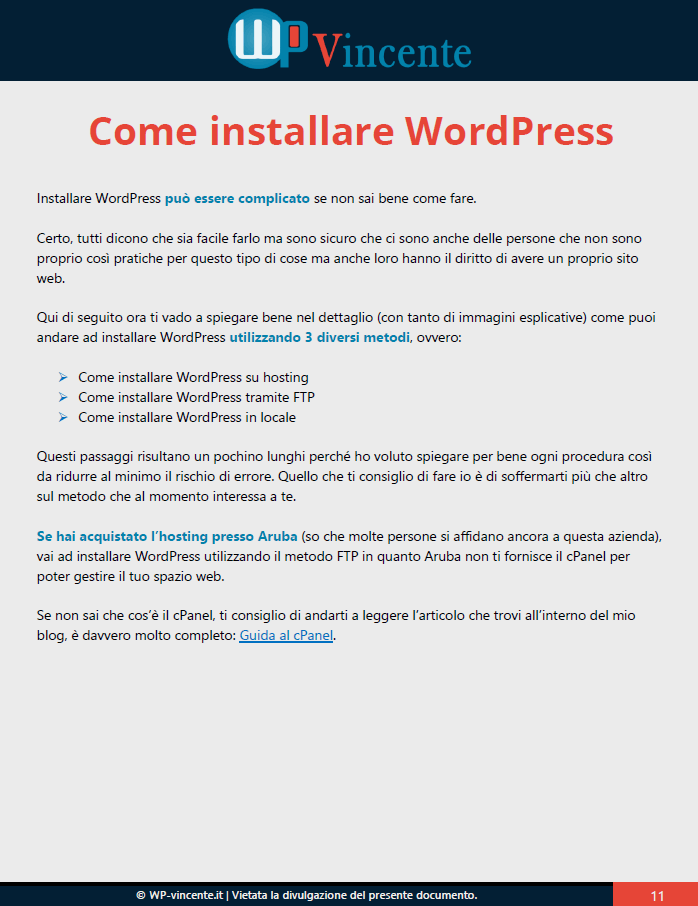 4-Installare WordPress