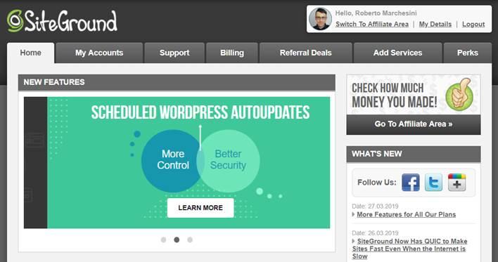 Come installare WordPress su SiteGround-Step2