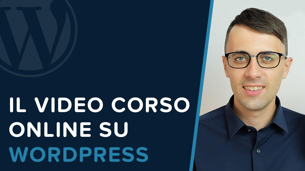 Assistenza WordPress-Video corso WordPress
